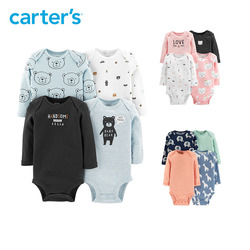 Carters 4Pcs Bodysuit Baby girl clothes Cotton long sleeve print bodysuits Newborn baby boy clothing set autumn winter 126H748