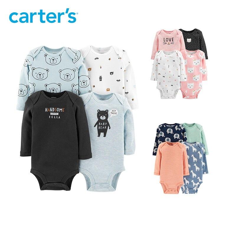 Sleeve, Newborn, Long, Boy, Carters, Bodysuit