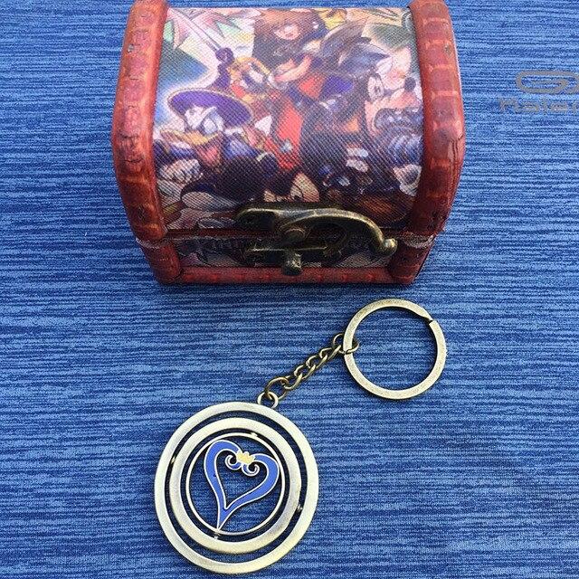 Кулон Kingdom Hearts в деревянной коробочке 1