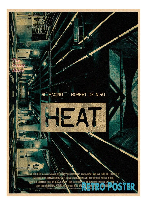 Heat Al Pacino Classic Movie Vintage Retro Poster Wall