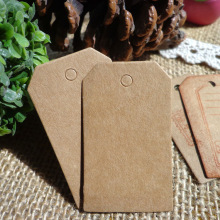 Free shipping 7x4 cm Cardboard Blank price Hang tag Retro Kraft Gift 100pcs/lot