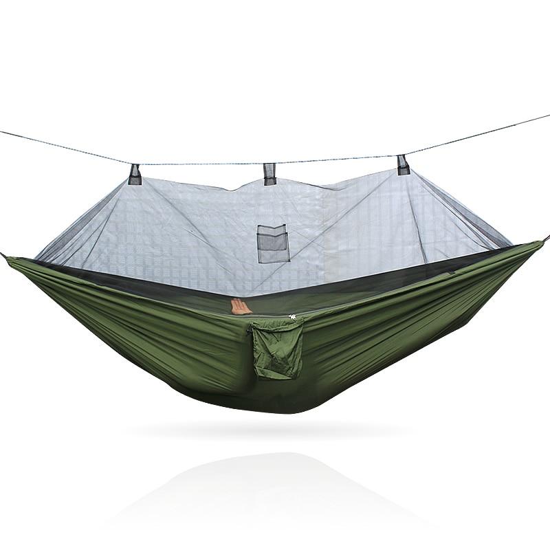 260*140cm 260cm Army Green Color 210T Nylon Mosquito Net Hammock 260*140cm 260cm Army Green Color 210T Nylon Mosquito Net Hammock
