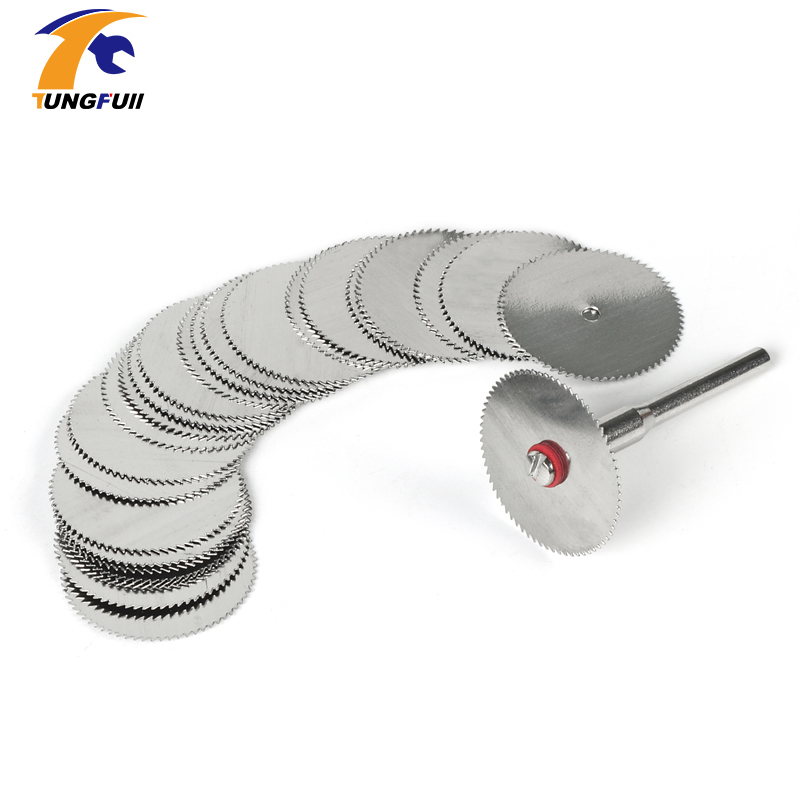 Tungfull 20PCS Stainless Steel Round Cut Off Cutting Disc Grinder Wood Saw Cutter Wheel Blade Abrasive For Dremel Rotary Tool