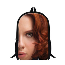 2016 Cartoon Kinder Schulter Schultasche The Avengers Black Widow Druck frauen Rucksack Mädchen Casual Reisetaschen Buch Tasche