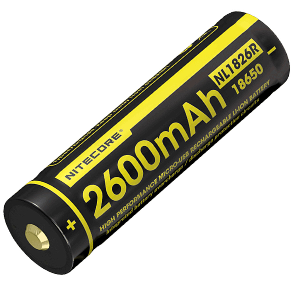 2 Pcs Nitecore Nl1826r 18650 2600mah 36v 126wh Usb Direct Charging Xpower Liion Battery W Protection Circuit Free Rechargeable Li On High Quality With In Digital Batteries From