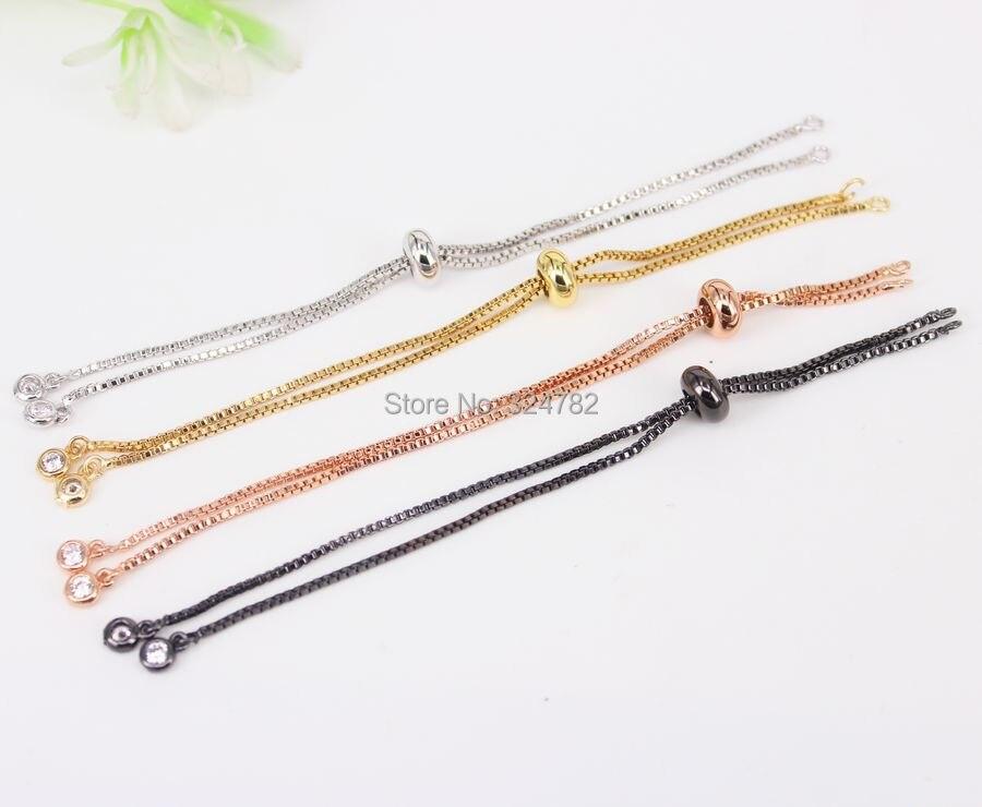 40pcs Mix color Charm Chain for Making Bracelet Adjustable Chain Macrame Bracelet For Women Bracelet Jewelry