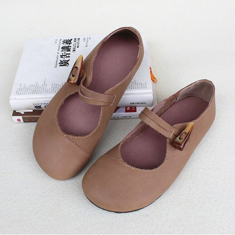 Shoes Woman Flat Slip on Ballet Flats 100 Genuine Leather Ladies Flat Shoes Comfortable Women Shoes