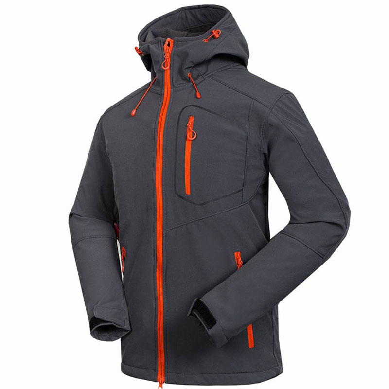 2017 Softshell Jacket Men's Windstopper Waterproof Hiking Jackets Outdoor Thick Winter Coats For Trekking Camping Ski casual 2016 winter jacket for boys warm jackets coats outerwears thick hooded down cotton jackets for children boy winter parkas