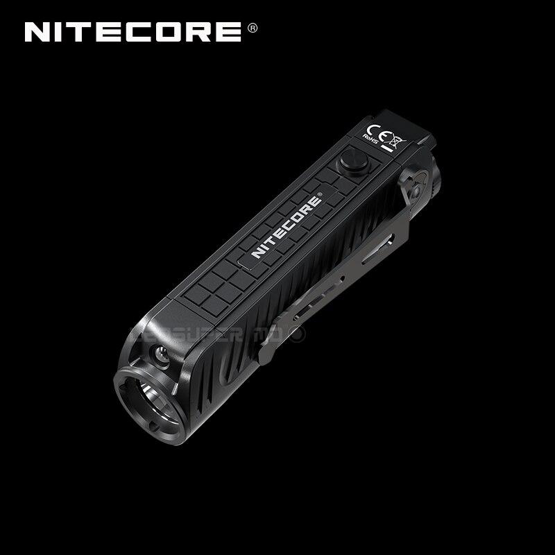 1800 Lumens Nitecore P18 Unibody Die-case futuriste CREE XHP35 HD LED lampe de poche tactique avec lumière rouge auxiliaire