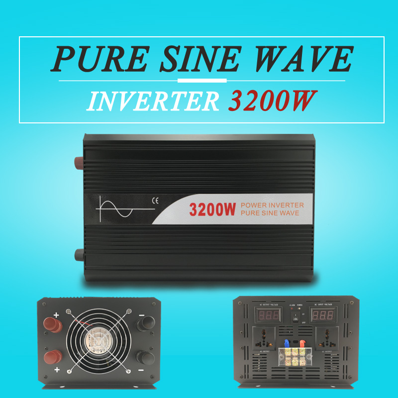 hot sale power inverter 3200W 12v 24v 48v dc to ac 110v 120v 220v pure sine wave off grid for home use