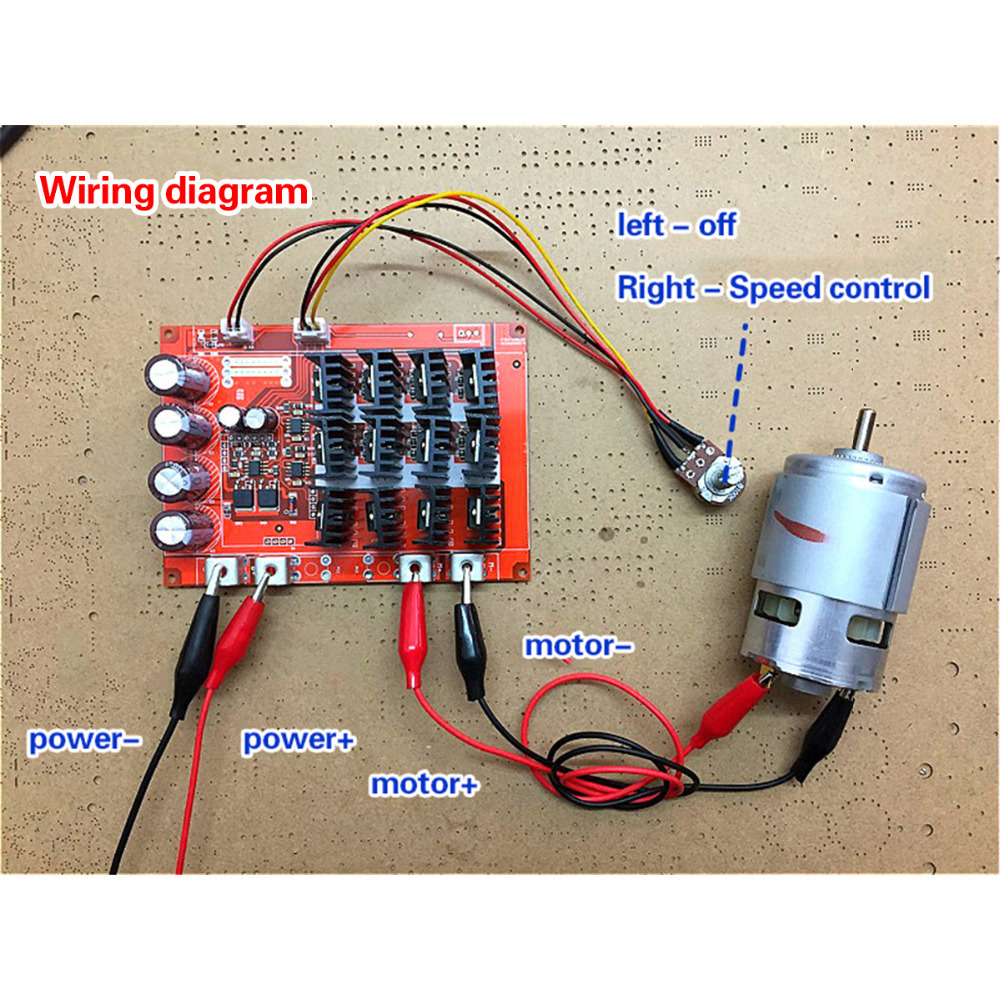 Buy Motor Speed Control Max Dc 60a 10 50v Pwm Hho Wiring Diagram Rc Controller 3000w 12v 24v 48v From Reliable Suppliers On Geeetech