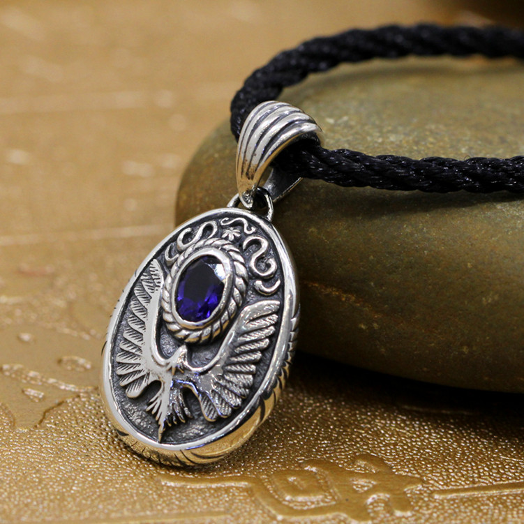 S925 bijoux en argent en gros aigle rétro exquis pendentif