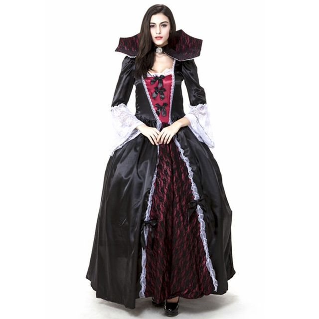 gothic vampire halloween costumes for woman fancy dresses carnival costumes anime cosplay costume vestidos medievais sissy