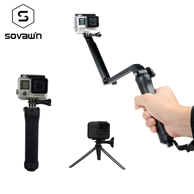 Action video cameras pau de selfie Cameras selfie stick gopro waterproof go pro selfie sticks for hero 3 4 5 selfie media настольная игра мутантики selfie media