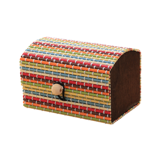 Creative Bamboo Wooden High Capacity Case Cute Jewelry Box Storage