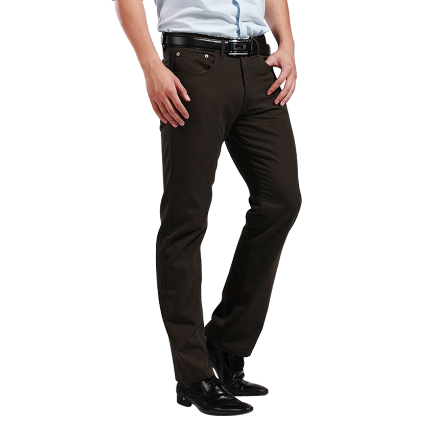 Brand Men s Pants Men Jeans Straight Pants Trouser 100 Cotton Canvas Vintage Fit Leg High