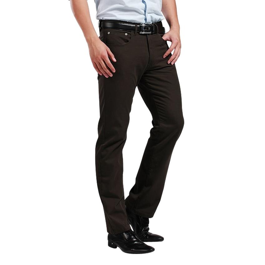 Brand Men's Pants Men Jeans Straight Pants Trouser 100% Cotton Canvas  Vintage  Fit Leg High Quality Rivet  Europe Size