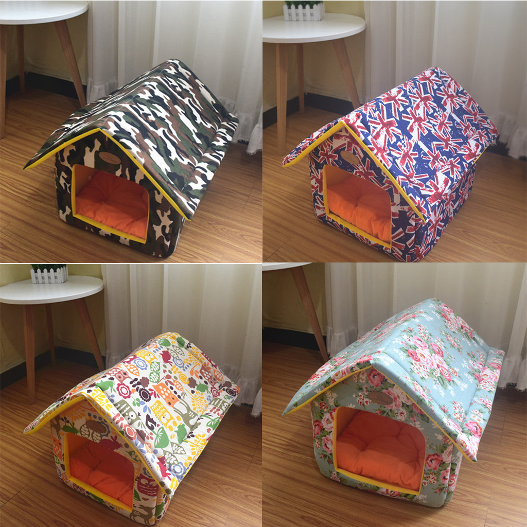 Pet Cat Dog House Bed Winter Soft Warm Pets Kennel For ...