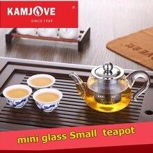 Kamjove bin elegante blume tee glas tasse/topf mit kleinen glas teekanne tee gerät schwarzen tee tasse pu-äh kung fu tee set