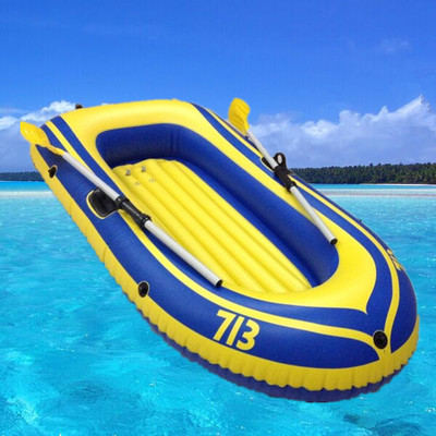 2017 PVC Rubber Boat for River Stream Lake Fishing Inflatable Boat  with Paddles Pump Patching Kit and Rope Safty for Two People цены онлайн