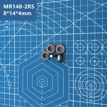 купить Free Shipping High quality 10PCS MR148-2RS (ORANGE) 8*14*4 mm Miniature deep groove Ball Bearings MR148RS L1480 MR148 по цене 446.15 рублей