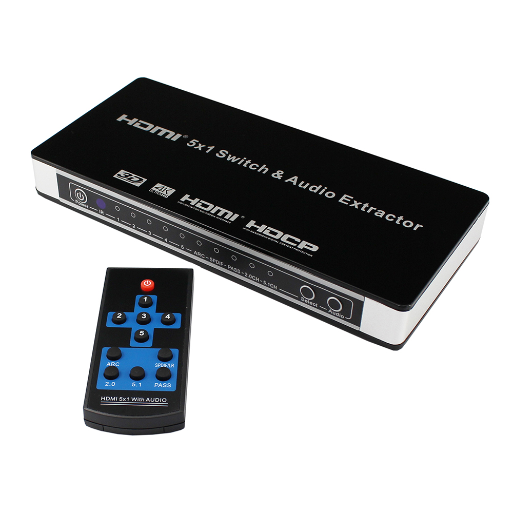 HDMI Five with a Audio Separation Function Switch 5 Input