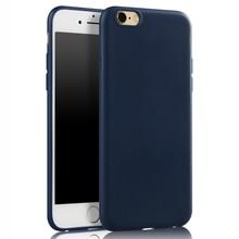 Для iphone 7 Дело Тонкий Тонкий Матовый Мягкий ТПУ Силиконовый Чехол для Apple, iphone 7 Plus 5S 5 SE 6 6 s Плюс Задняя Крышка Резина Черный