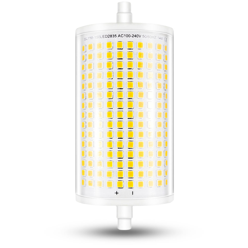 118MM LED Light Bulb J118 R7S Dimmable LED Flood Light 14W Double Ended LED Bulb J Type Halogen 100W 150W R7S Floodlight Replace r7s 30w 118mm dimmable led bulb floodlight bulb r7s light j118 r7s lamp no fan no noise replace halogen lamp ac85 265v