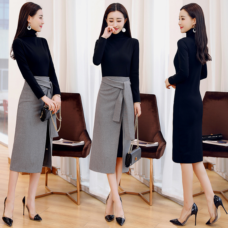 Detail Feedback Questions about Vogue Top And Skirt Two Piece Set Knitted Year  old Female Costume Conjunto Feminino Office Work Ensemble Femme Survetement  ... 15830968b2a4