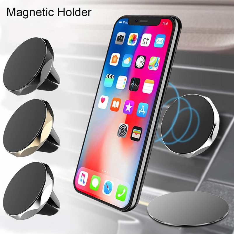 Magnetic Phone Holder For IPhone XR XS Car GPS Air Vent Mount Magnet Cell Phone Stand Holder For Samsung S10 Xiaomi Pocophone F1
