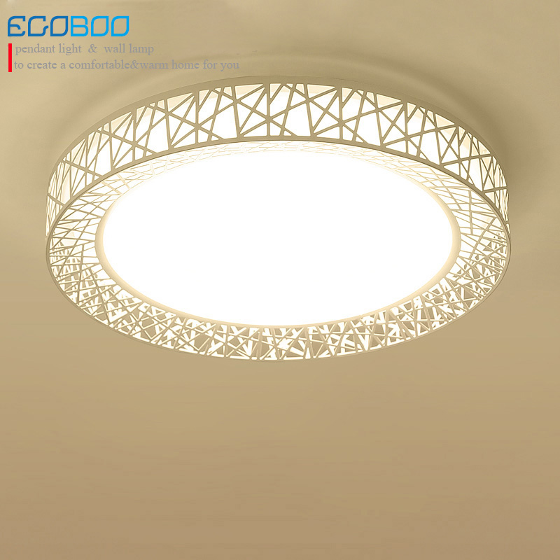 Mdoern Brief indoor led ceiling lights round bedroom decoration Bird's Nest white ceiling lighting lamps 24W 220V creative star moon lampshade ceiling light 85 265v 24w led child baby room ceiling lamps foyer bedroom decoration lights