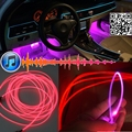 Ambient Rhythm Light For Audi A6 S6 RS6 C6 C7 Tuning Interior Music / Sound Light / DIY Car Atmosphere Refit Optic Fiber Band