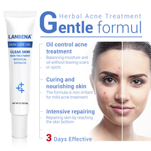 LANBENA Acne Treatment Gel Acne Cleaning Cream Blackhead Remover Acne Spots Face Acne Scars Skin Care Repair Comedone Pimple 20g