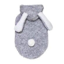 Зимняя одежда для собак из кораллового флиса с кроликом, кофта с капюшоном для домашнего животного, костюм, одежда розового/серого цвета, теплая одежда для щенка, Roupa Cachorro