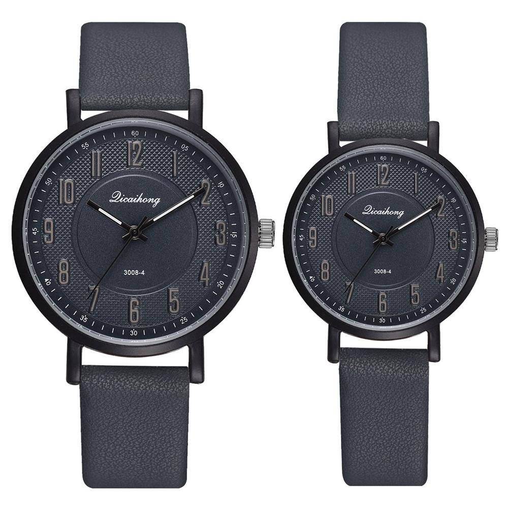 Lovers Watches Set Men Women Casual Leather Strap Quartz Watch Women's Dress Couple Watch Relogios Femininos Drop Shiping