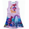 Trolls Dress New Clothes Girls Dress Trolls Figures Printed Party Tutu Princess Dress Kids Dresses For Girls Clothes 3-10years
