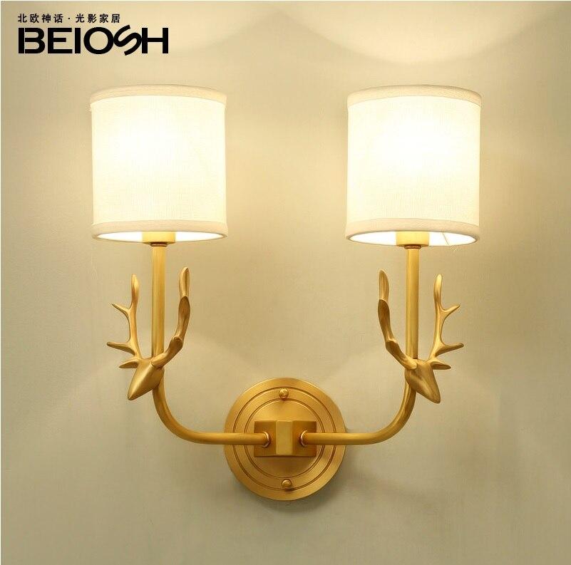 Moscow Design Moose Deer Brass Wall Lamp