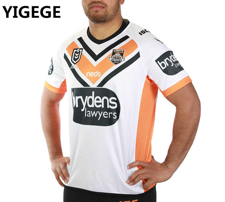 3ec25164937 YIGEGE 2019 Best Quality WESTS TIGERS home away Rugby jerseys shirt nrl  Jersey Wests Tigers Rugby