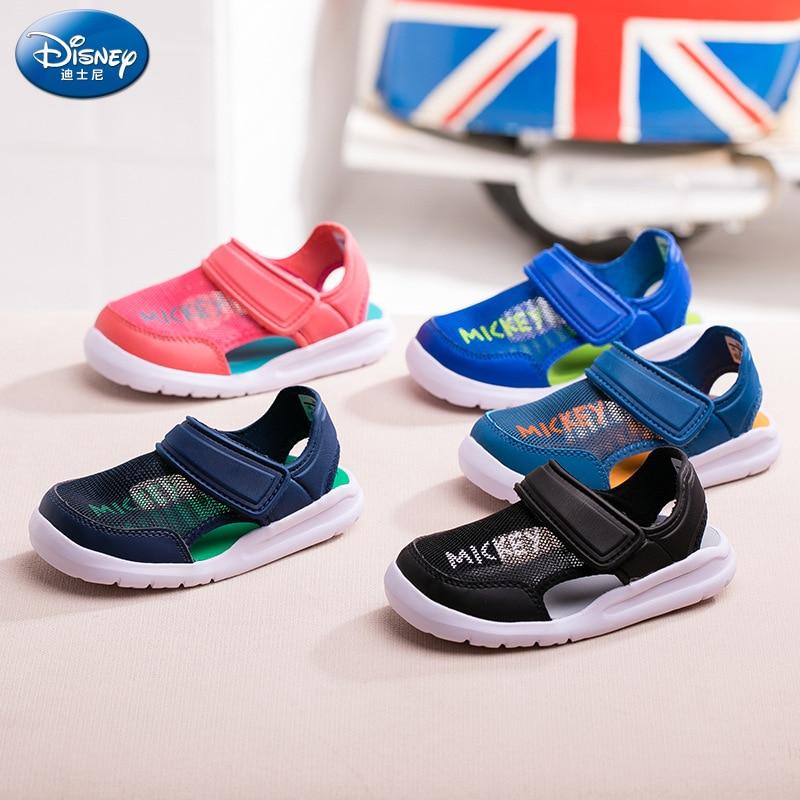 Disney mickey enfants Baotou sandales 2019 été nouveaux garçons doux bas maille sandales et pantoufles filles chaussures eu taille 24-35