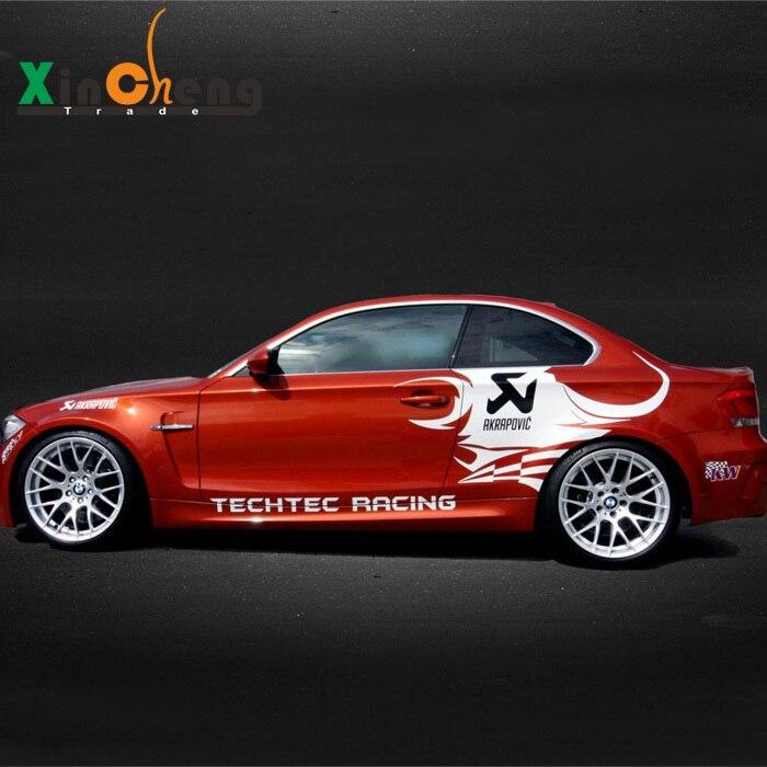 Скорпион AKRAPOVIC гирлянда автомобиль наклейки чехол для BMW 5 серии автомобилей-стайлинг серии 120i 3