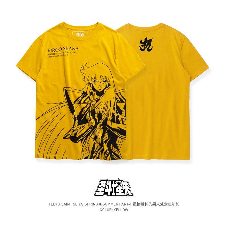 TEE7 Men's Casual Short-sleeved T Shirt Saint Gladiator Virgo Sarga Print T-shirt Summer Fashion Slim Top