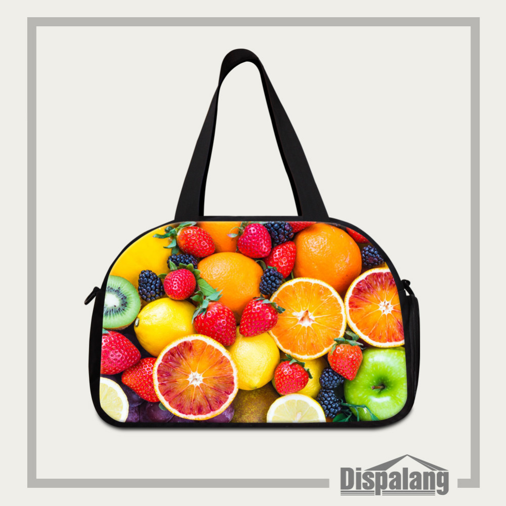05c4246b499 Dispalang Large Travel Bags Candy Fruits Print Women Tote Bag Dual-use  Luggage Pack Multifunction Shoulder Weekend Bag Overnight