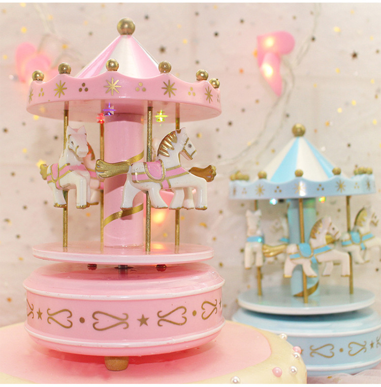 Astounding Musical Carousel Cake Toppers Newborn Baby Boy First Birthday Girl Personalised Birthday Cards Beptaeletsinfo