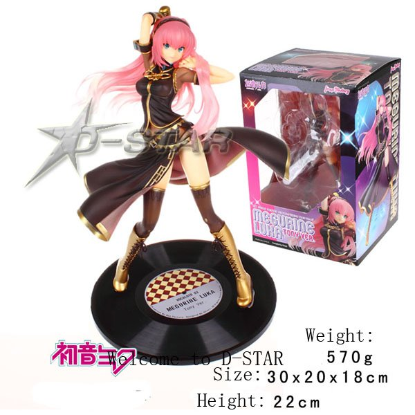 Free Shipping 9 VOCALOID 2 Hatsune Miku Megurine Luka 1/7 Scale Body Inseparable Sexy PVC Action Figure Collection Model Toy free shipping vocaloid hatsume miku short green anime cosplay wig 2 x ponytails
