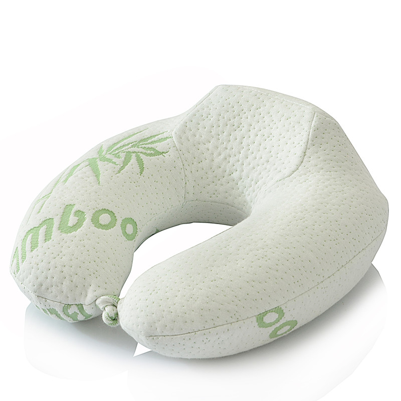Hot Sale Home Supplies Bamboo Fiber U Shape Neck Pillow Therapy Pillow Practical Comfortable Home Office Travel Pillow