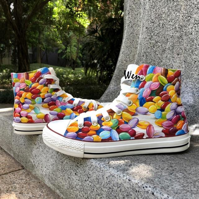 Wen Design Custom Original Handgemalte Schuhe Bunte Schokolade