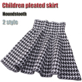 Beautiful Style 2 Color Houndstooth Jacquard Knitting Skirt Girls Skirts Princess Skirts Tutu Girl Child Clothing Kids