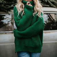 Femmes Pull à col roulé automne hiver 2018 Pull pulls décontracté casual Twist chaud chandails femme surdimensionné Pull