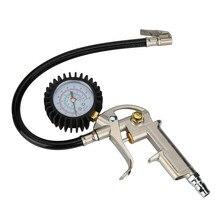 Манометр 220 PSI пистолетного типа гибкий шланг воздушный патрон с циферблатом шиномонтажный насос Прямая поставка