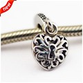 Heart Padlock Beads Fits Pandora Charms Bracelet Beads 925 Sterling Silver Beads For Jewelry Making 2016 Mother Day's Collection